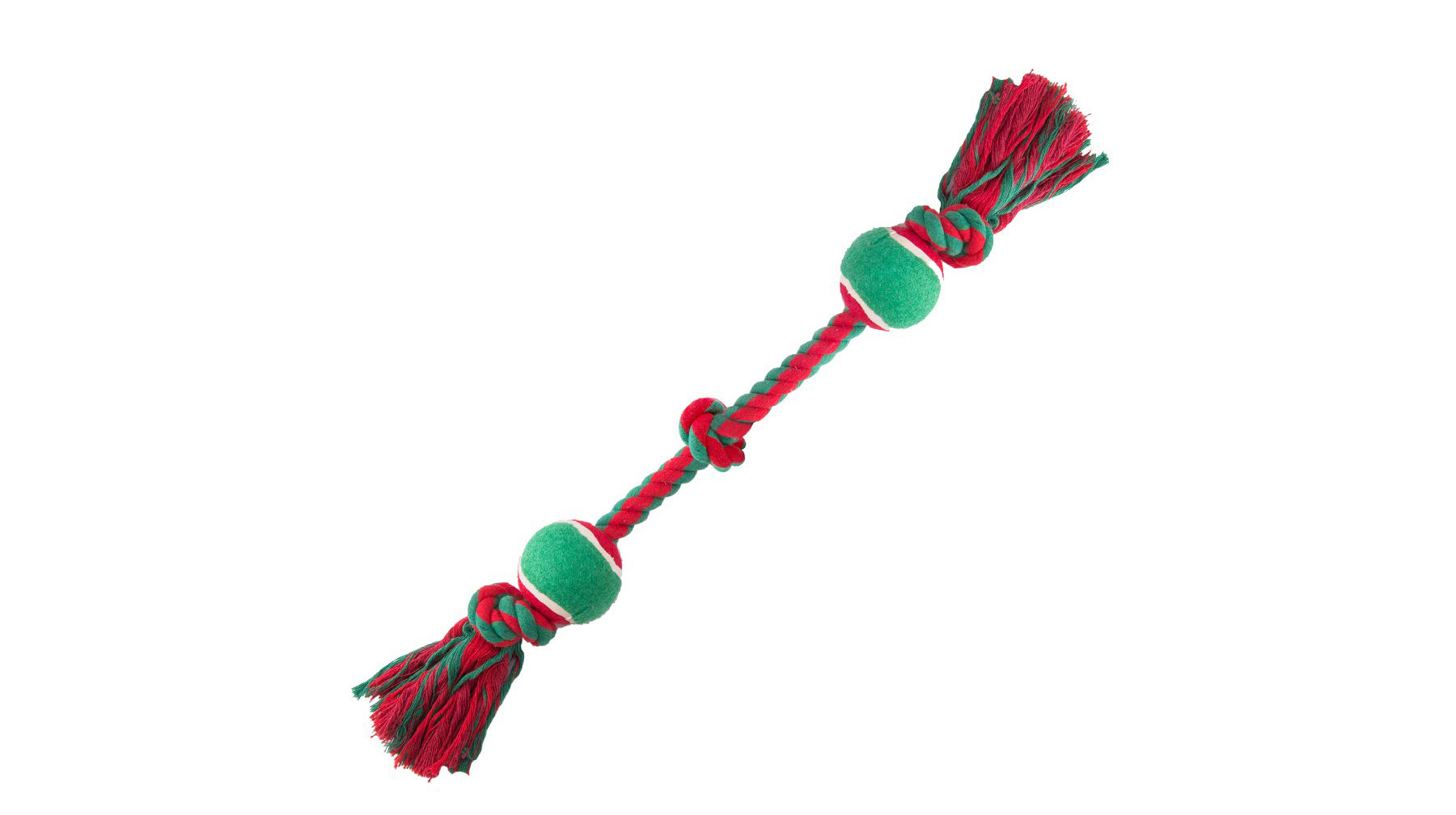 Rope and Ball Christmas Dog Toy