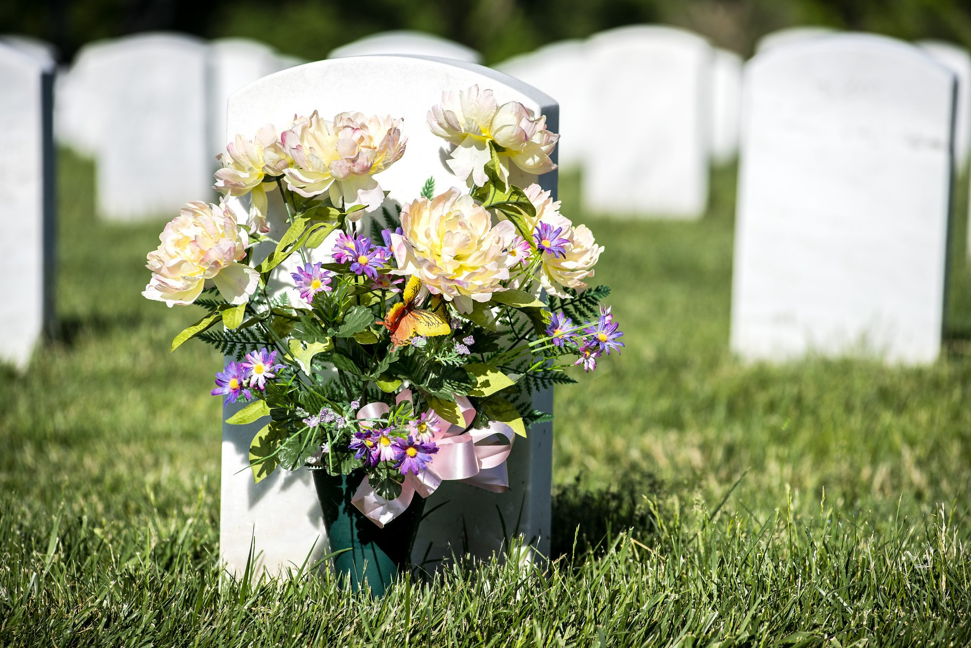 Cemetery with Flowers