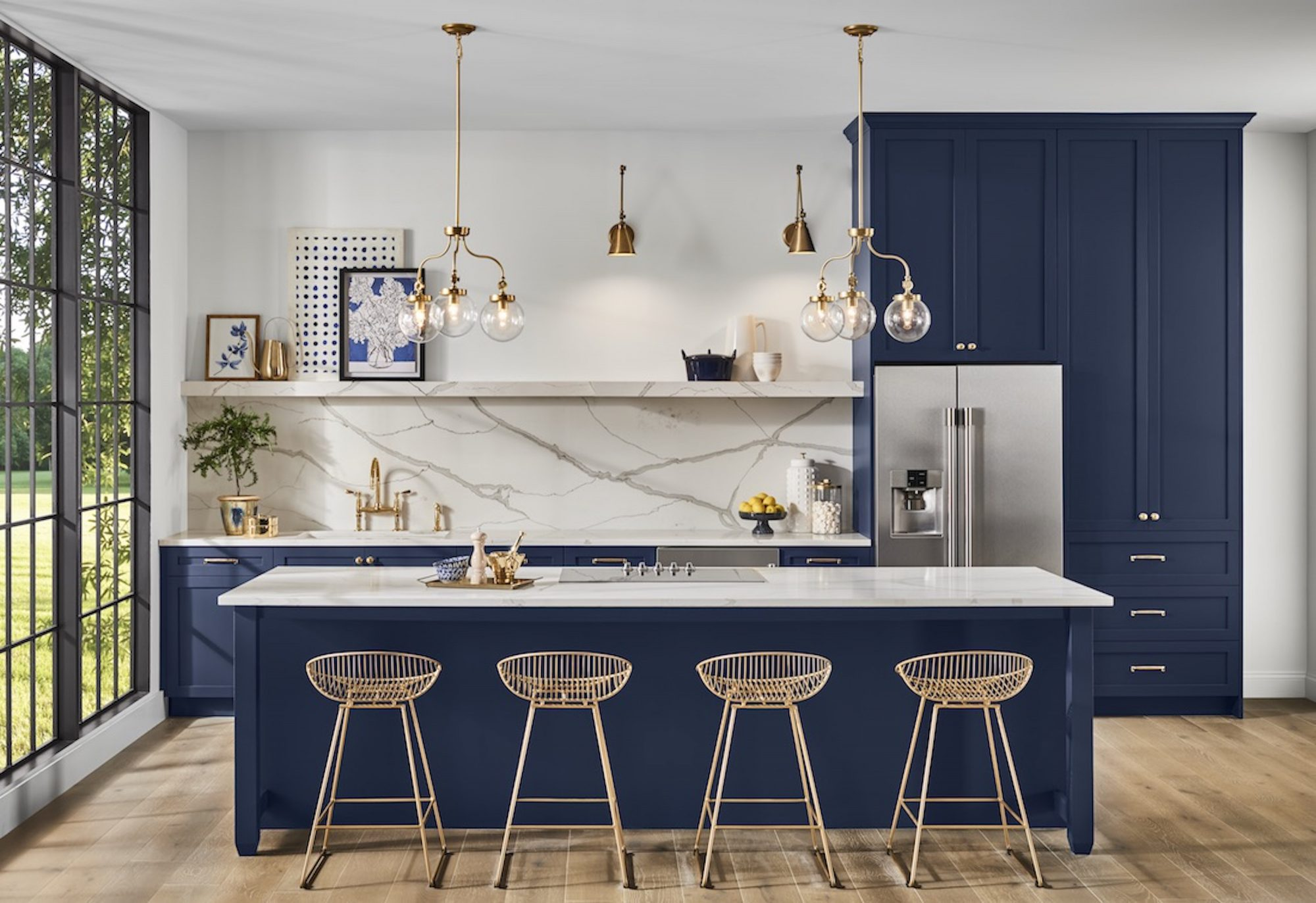 7 Paint Colors We're Loving for Kitchen Cabinets in 2020