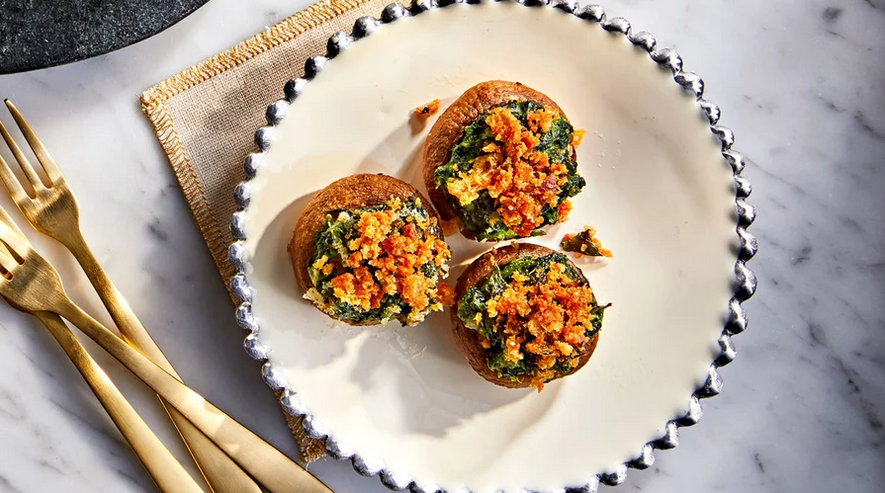 Spinach-Stuffed Mushrooms Recipe
