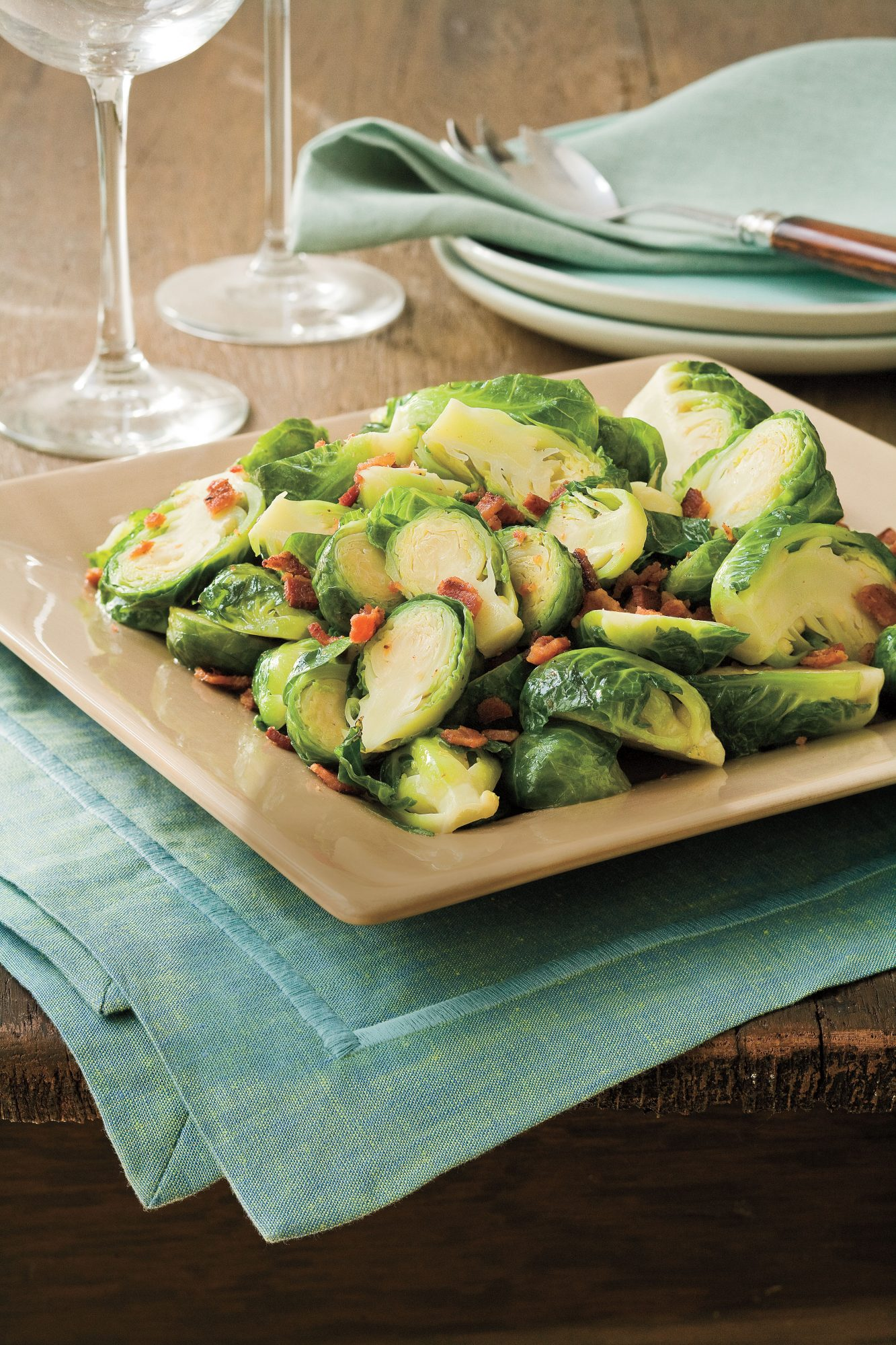 Thanksgiving Dinner Side Dishes: Bacon-Brown Sugar Brussels Sprouts Recipe