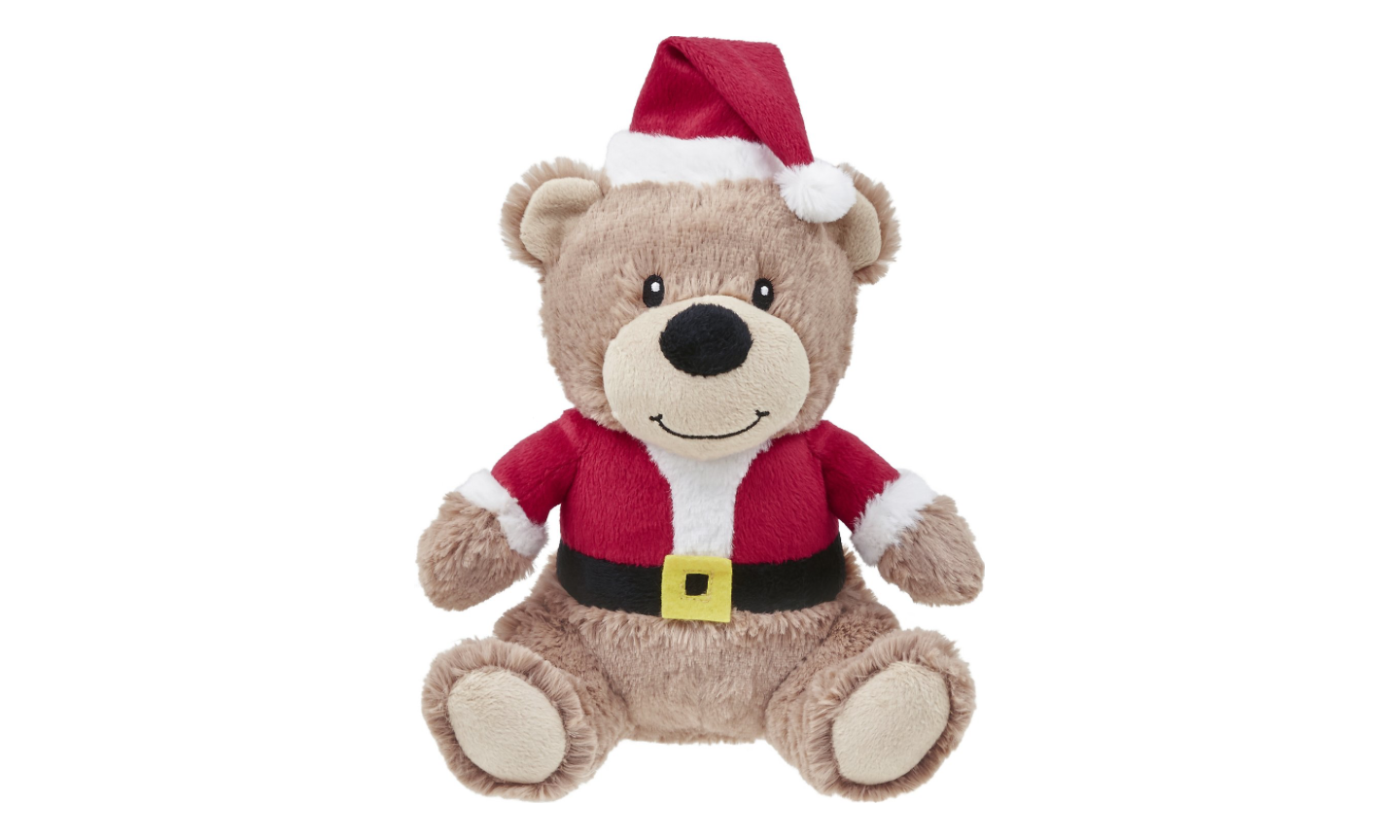 Santa Bear Dog Toy