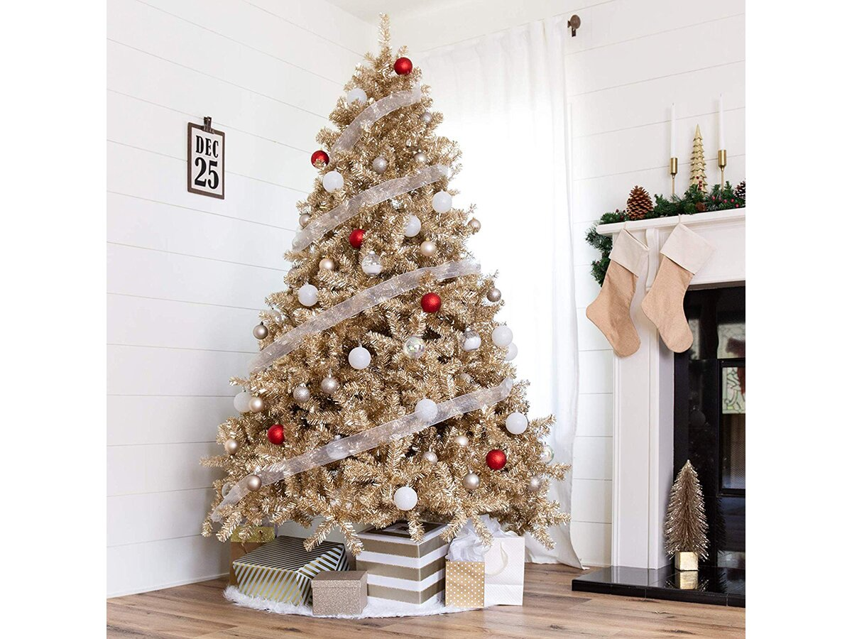 9 Gold Christmas Trees To Light Up Your