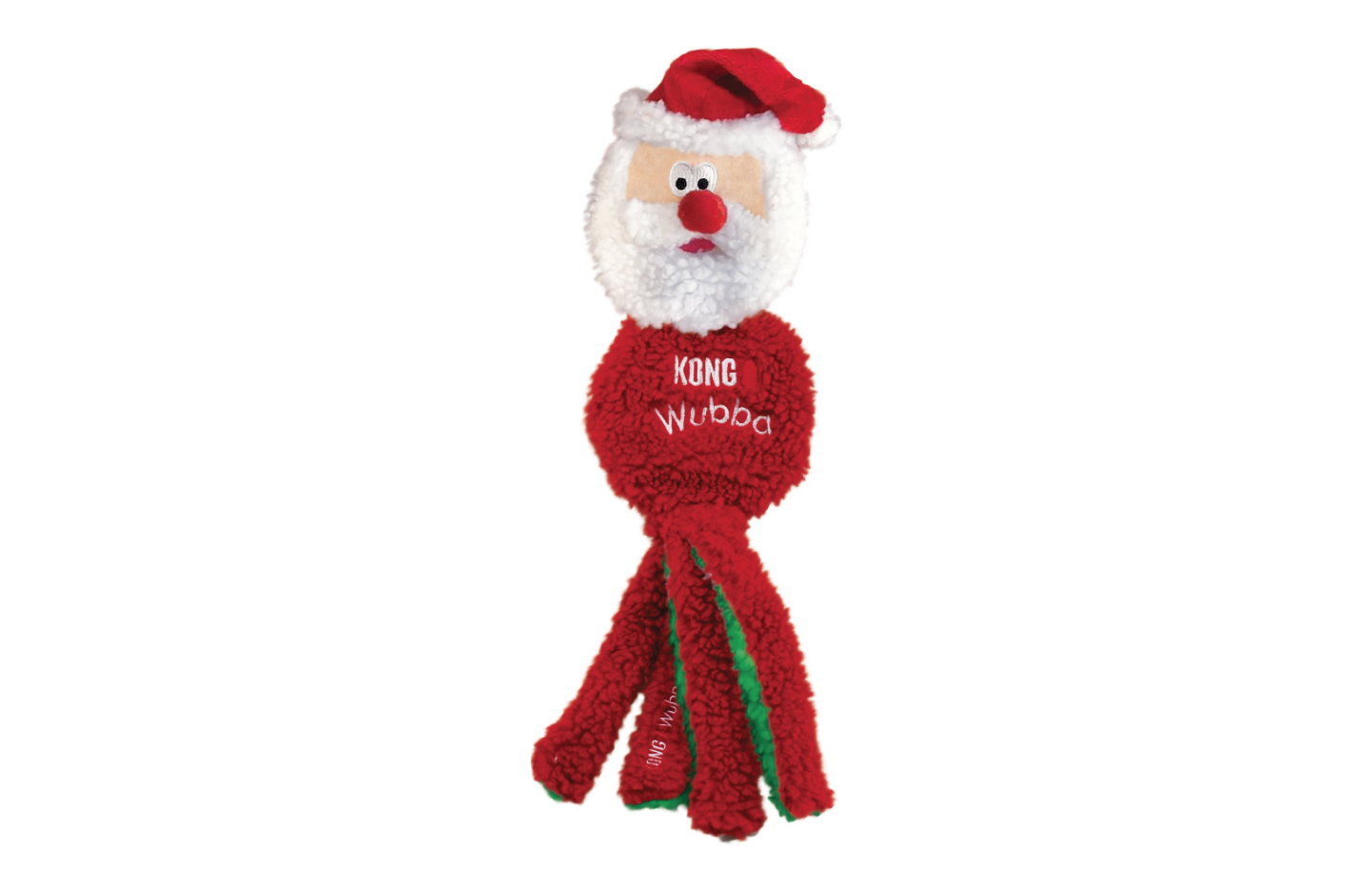 Fuzzy Santa Dog Toy