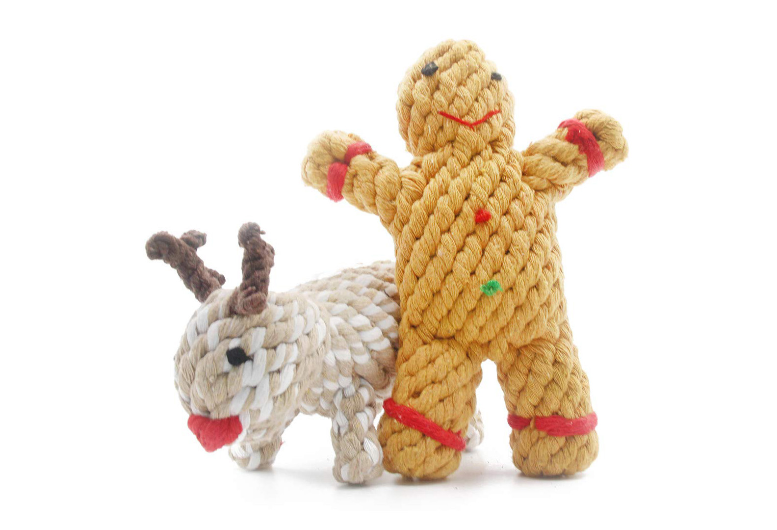 Gingerbread Man and Reindeer Knotted Toys