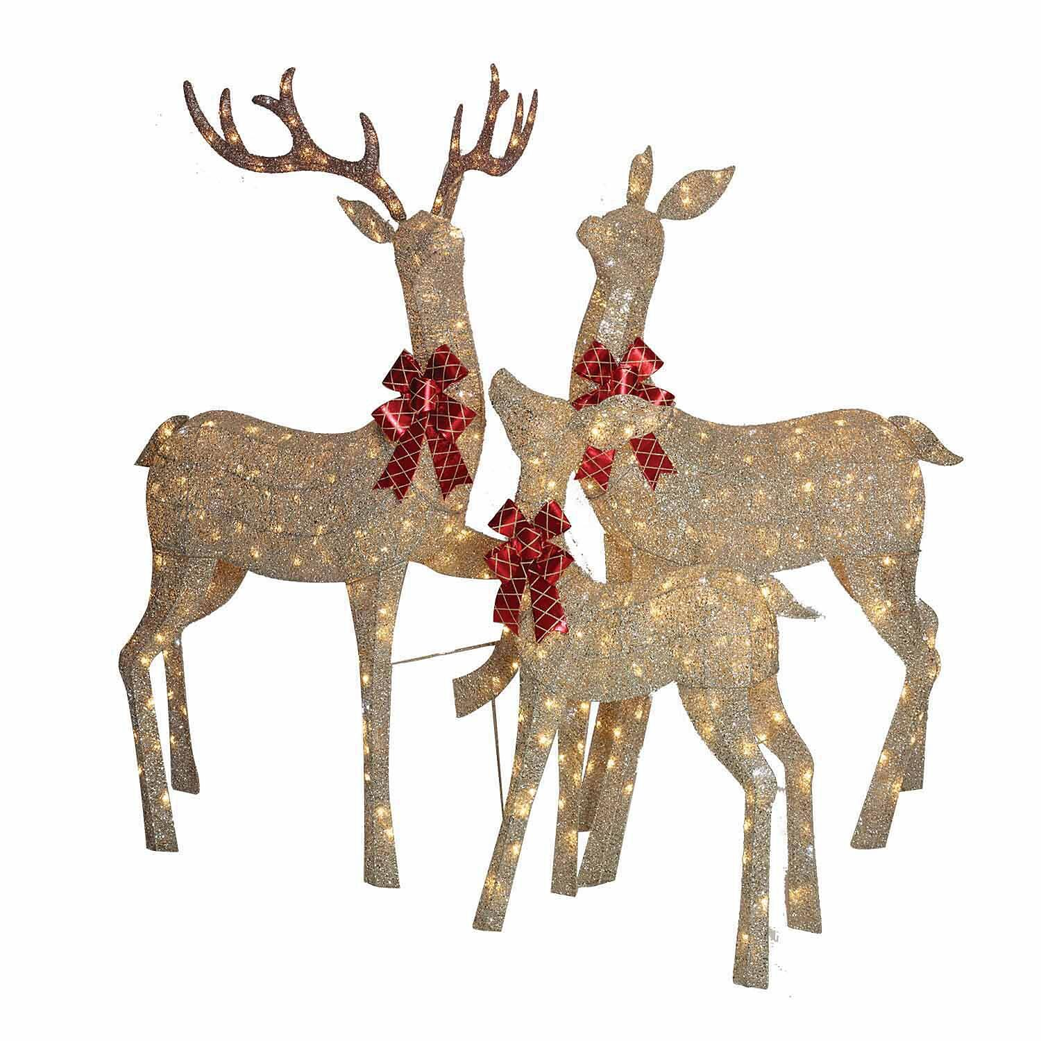 Member's Mark 3-Piece Gold Mesh Deer Family