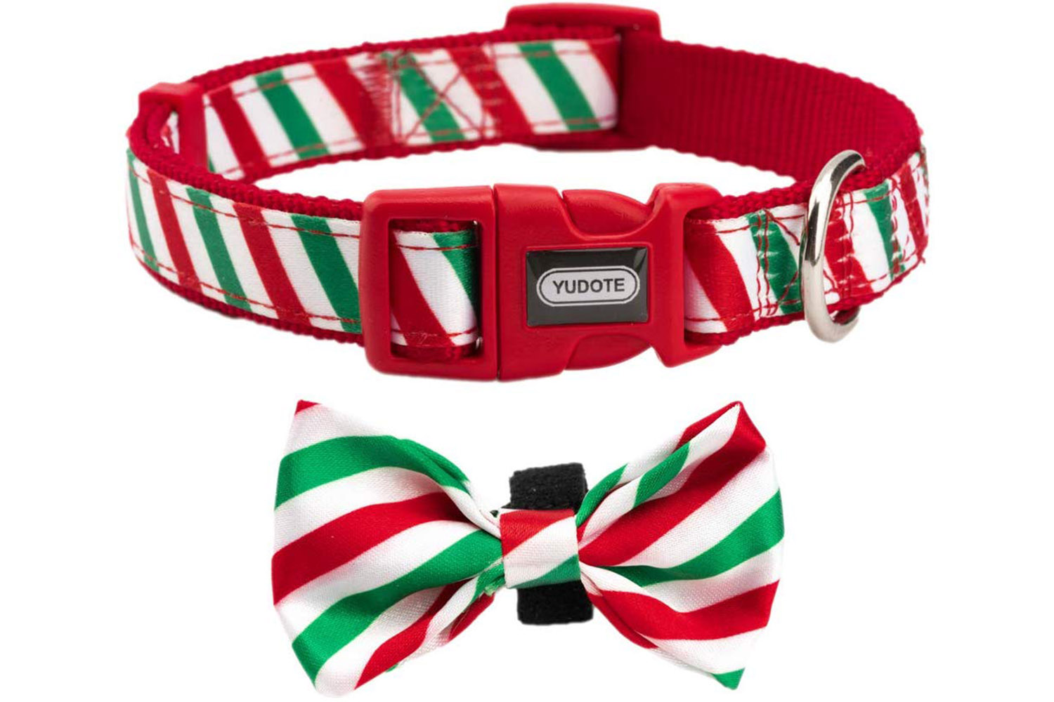 Red and Green Candy-Stripe Collar