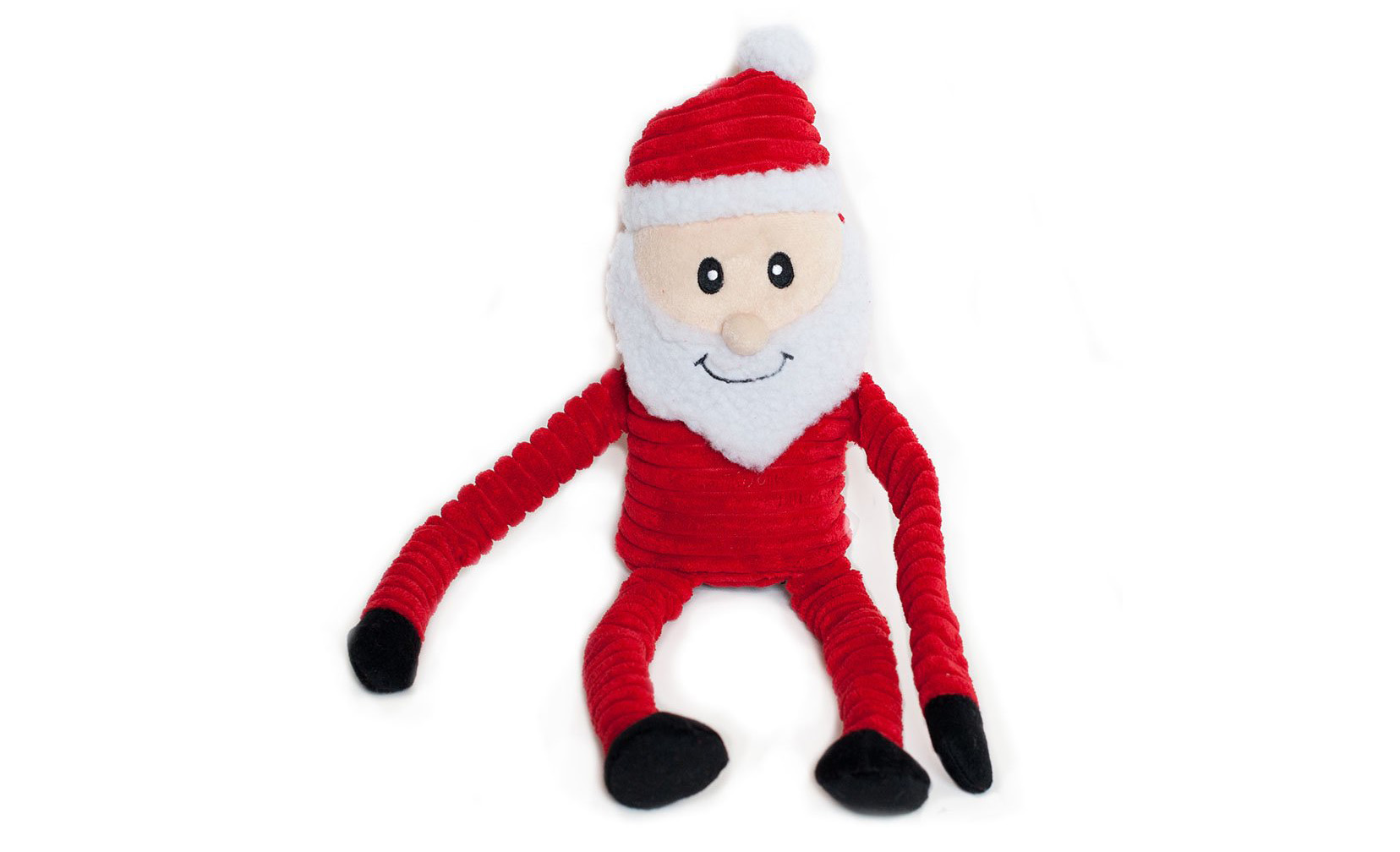Crinkle Santa Dog Toy