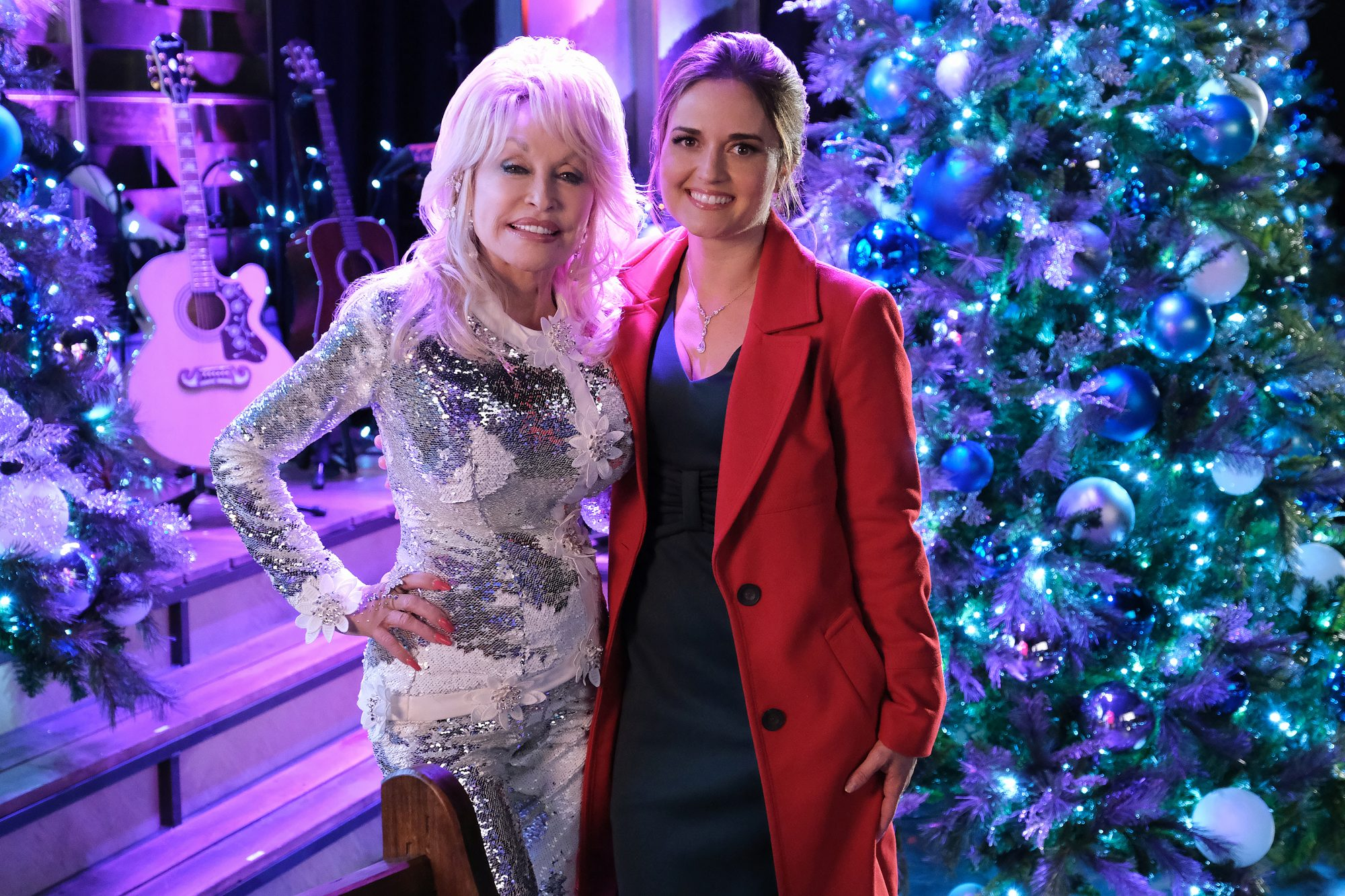 Dolly Parton and Danica McKellar Christmas at Dollywood