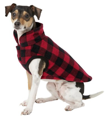 Plaid Fleece Vest