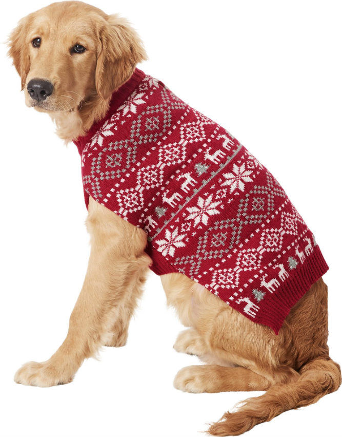 Fair Isle Dog Sweater