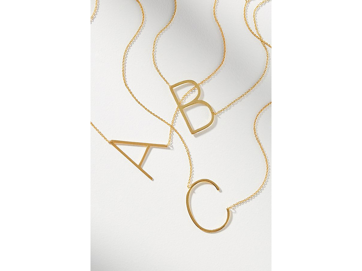 BUY IT: $38; anthropologie.comShe'll wear this modern take on a monogrammed necklace for years to come.