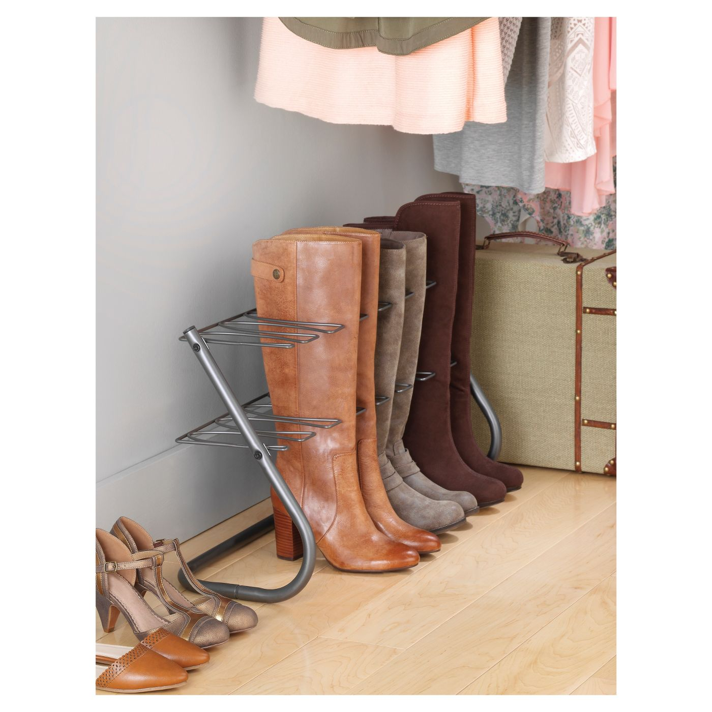 When winter season rolls around, you'll need a dependable storage system for your boots. This metal boot rack is sturdy and keeps the boots upright and in shape.BUY IT: $19.89; target.com