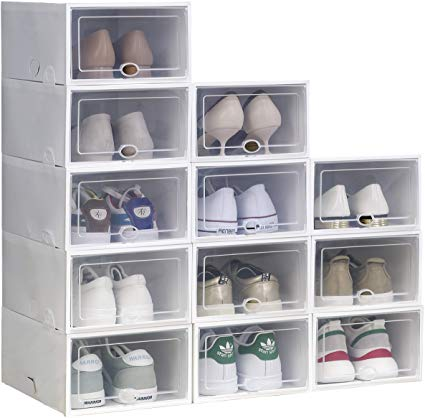 This durable shoe organizer can be stacked every which way. It's easy to clean, and the plastic cover keeps out dust and dirt.BUY IT: $43.99; amazon.com