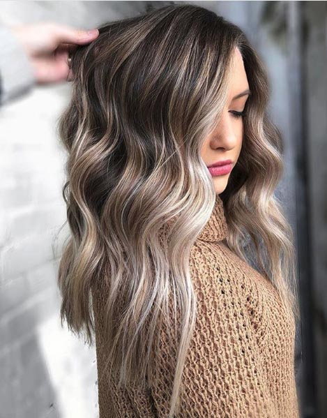 Frosted Brown Balayage