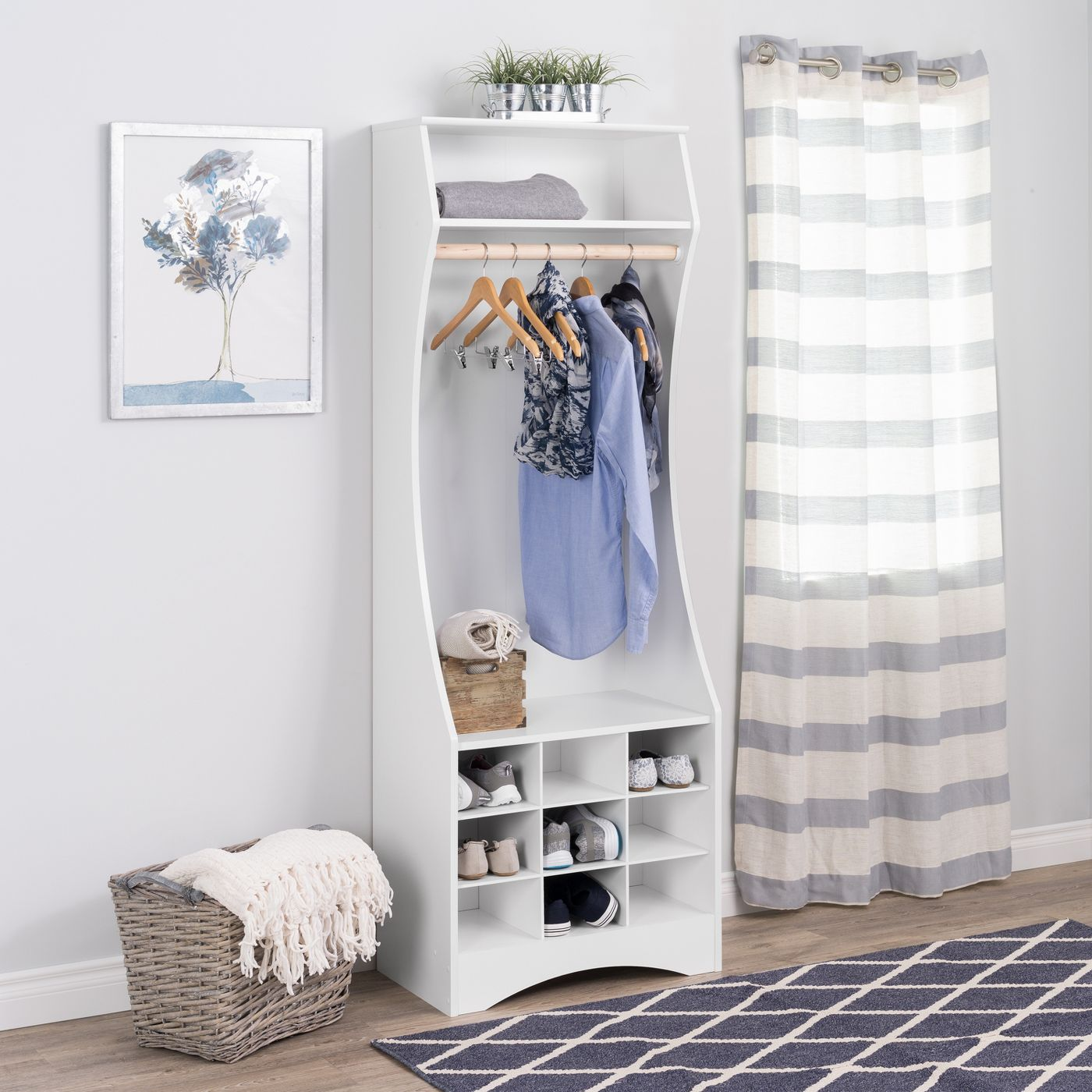Narrow Wardrobe with Shoe Storage