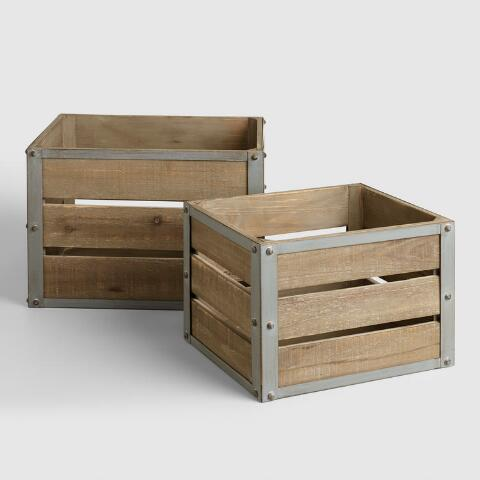 Find your shoes a home with these rustic, clutter-free crates.BU Y IT: $39.99; worldmarket.com