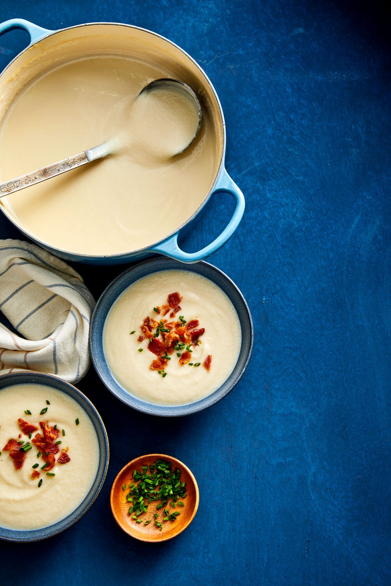 Creamy Cauliflower Soup with Bacon Robin Bashinsky