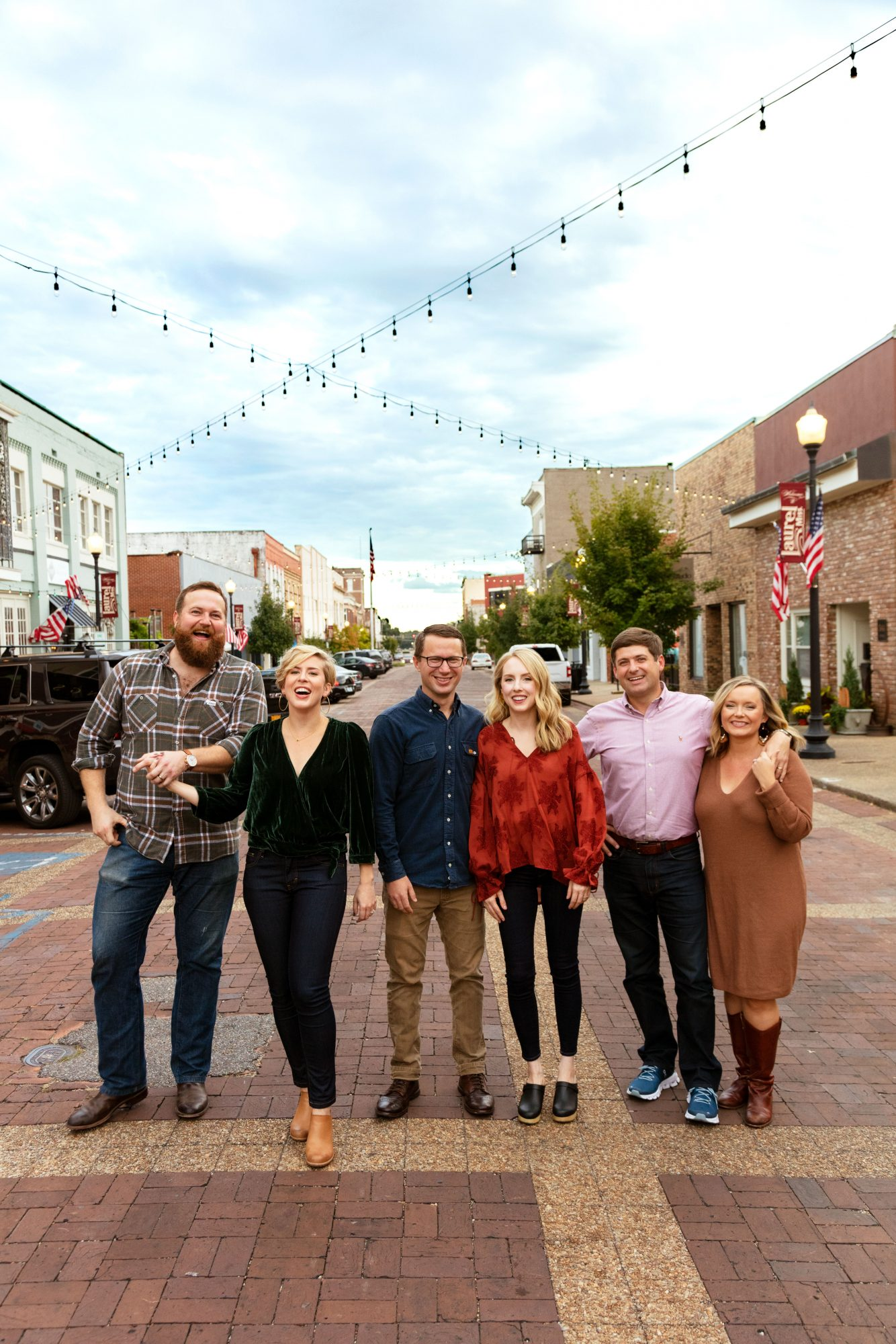 The Laurel Mercantile Co. team, from left: Ben & Erin Napier, Josh & Emily Nowell, Jim & Mallorie Rasberry