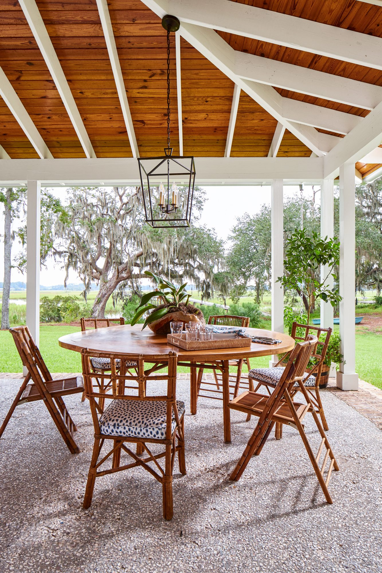 Watson Family Farmhouse in Savannah, GA Outdoor Dining Area