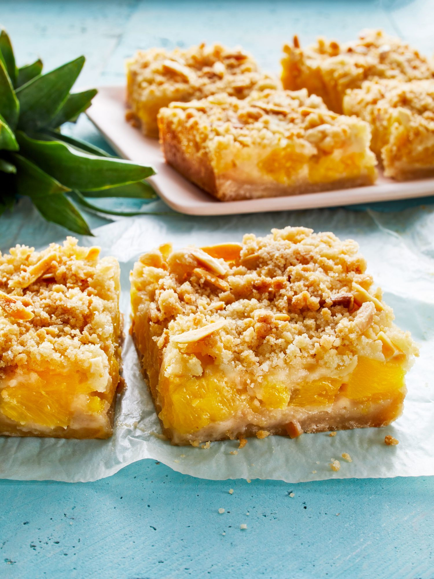 Buttery Pineapple Crumble Bars