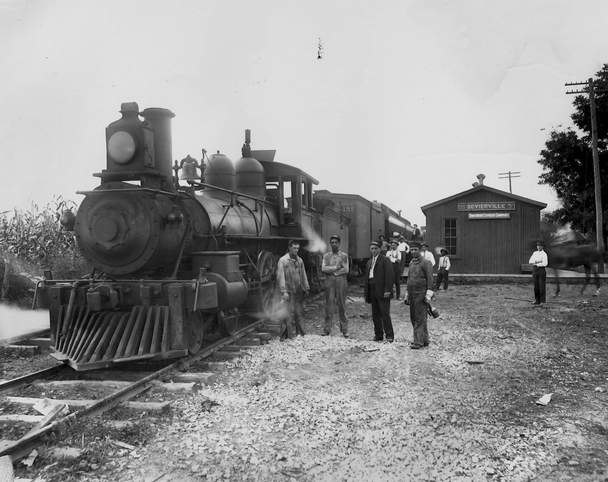KS&E, first train to come to Sevierville 1910