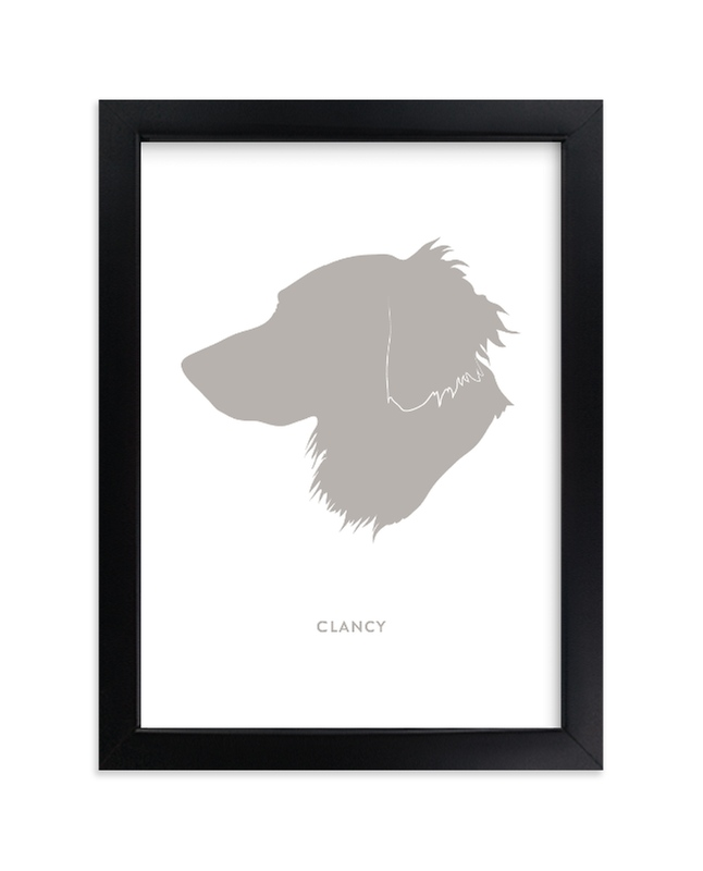 Minted Custom Pet Silhouette Art
