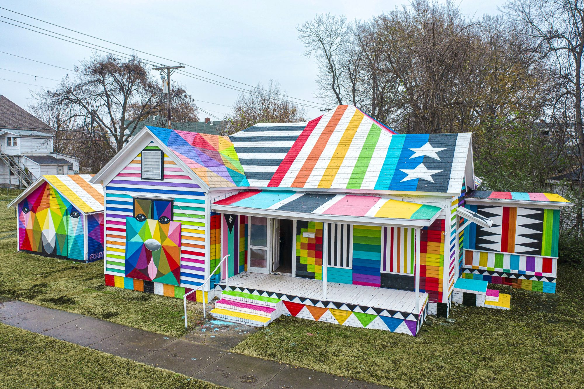 Plan a Trip To See The Rainbow Embassy Public Art Project in Fort Smith, Arkansas