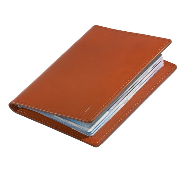 The Tie Bar Brown Leather Passport Cover