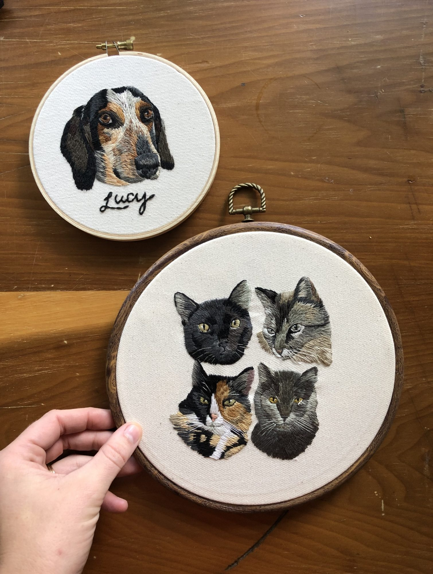 Embroidered Pet Portraits 1