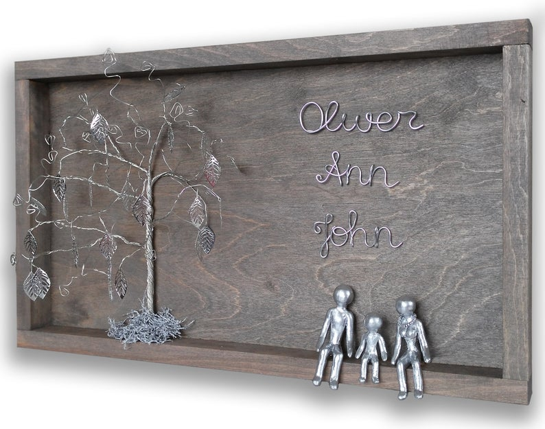 11th Anniversary: Steel                                       Gift Idea: Steel Family Tree                                       BUY IT: $162.91; etsy.com                                       This unforgettable present is a family tree completely made of steel. It's a beautiful gift to honor your family, as well as the eleventh anniversary theme.