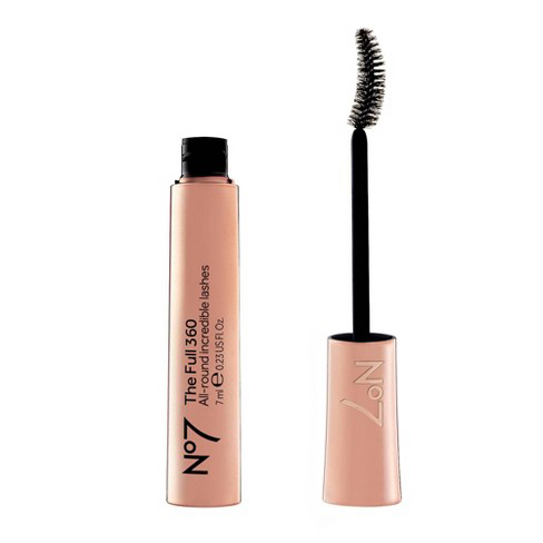 A curved wand is able to hug every lash, from corner to corner, which makes it ideal for those needing a pick-me-up. This crescent-shaped brush builds thickness and delivers brow-grazing height in just one swipe.Top Pick: No7 The Full 360 All-In-One Mascara, $9.99; walgreens.com