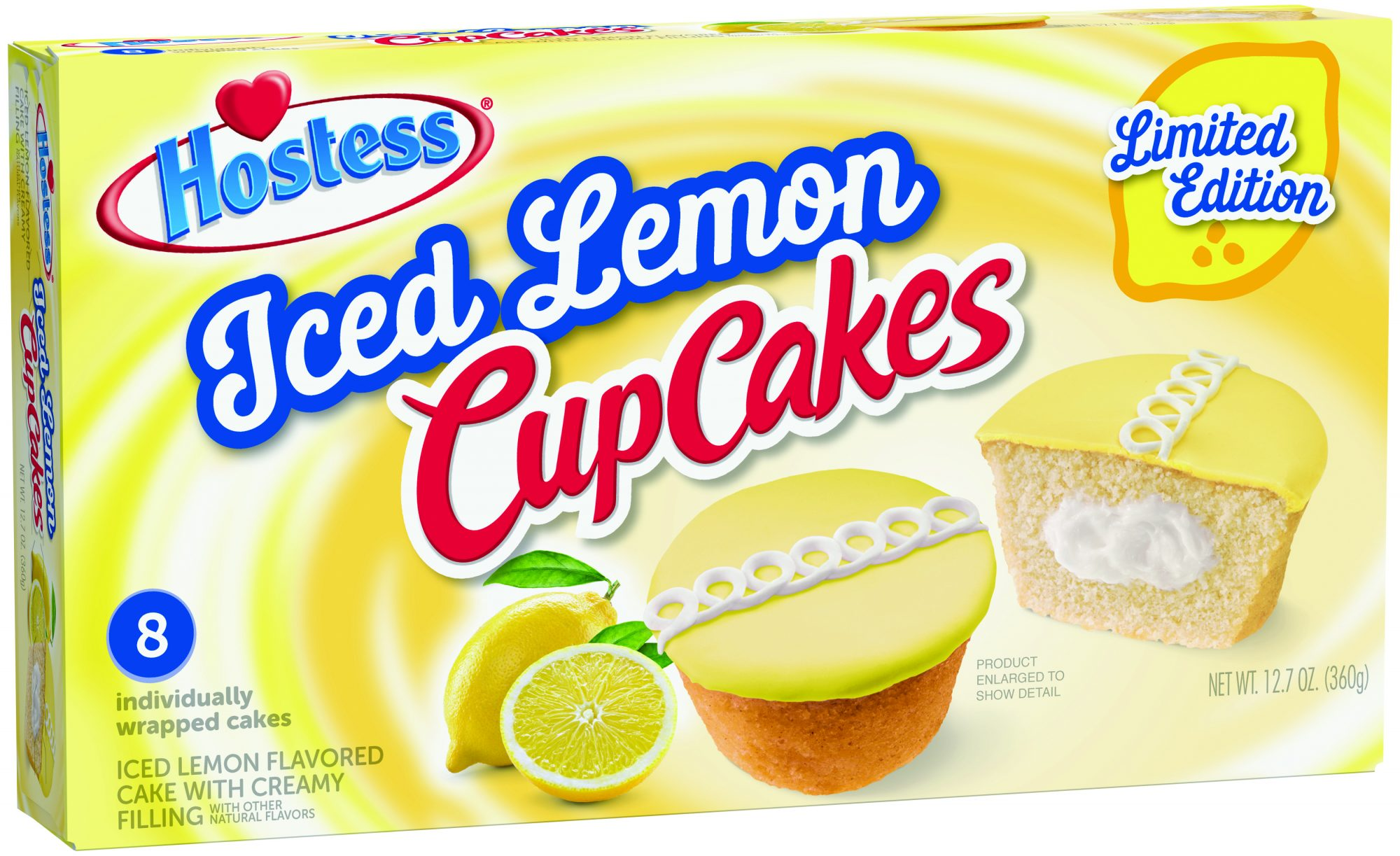 Hostess Debuts Iced Lemon CupCakes for a Limited-Time Only