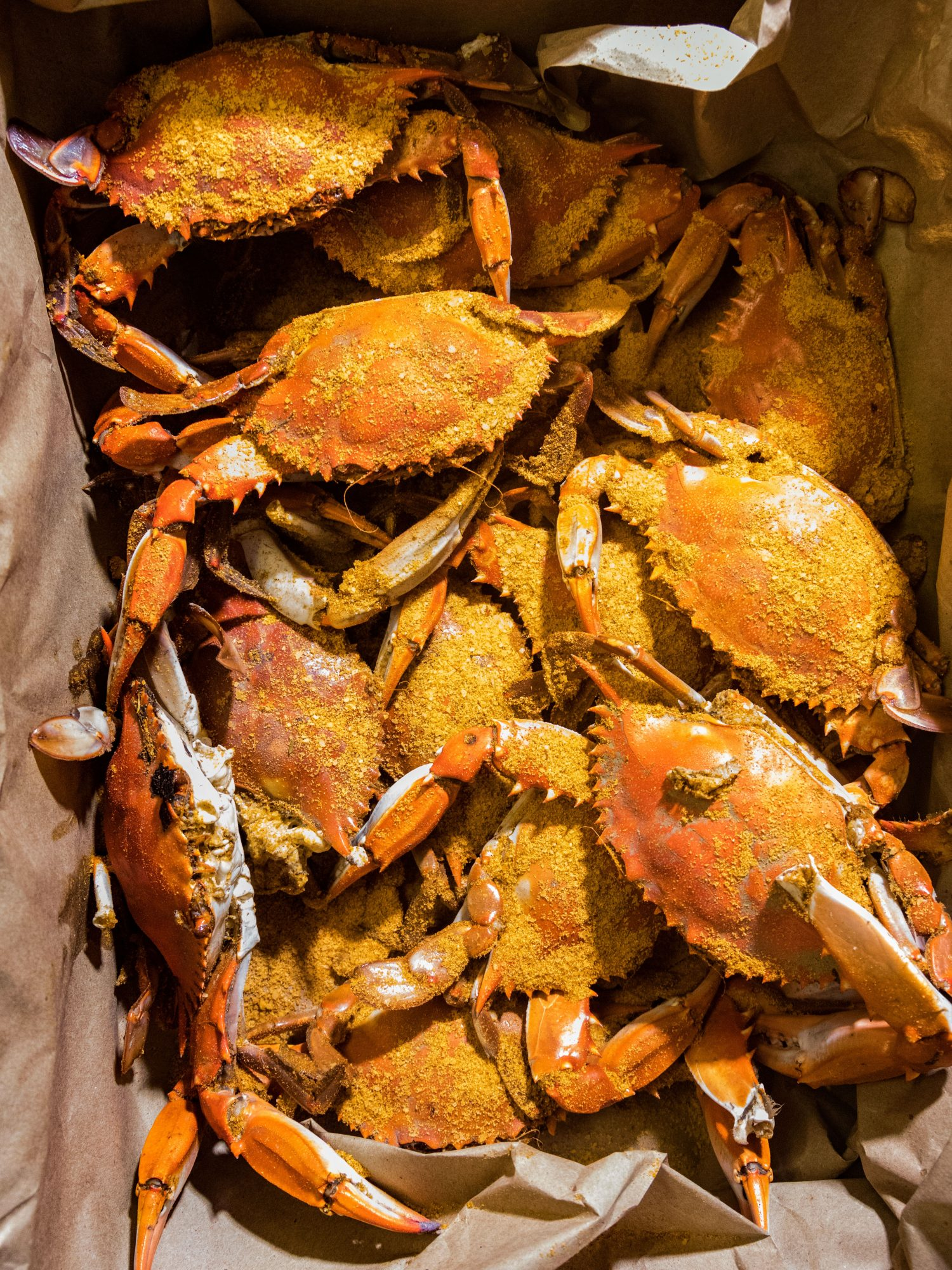 Steamed Crabs at Charlie Brown Seafood in Charleston