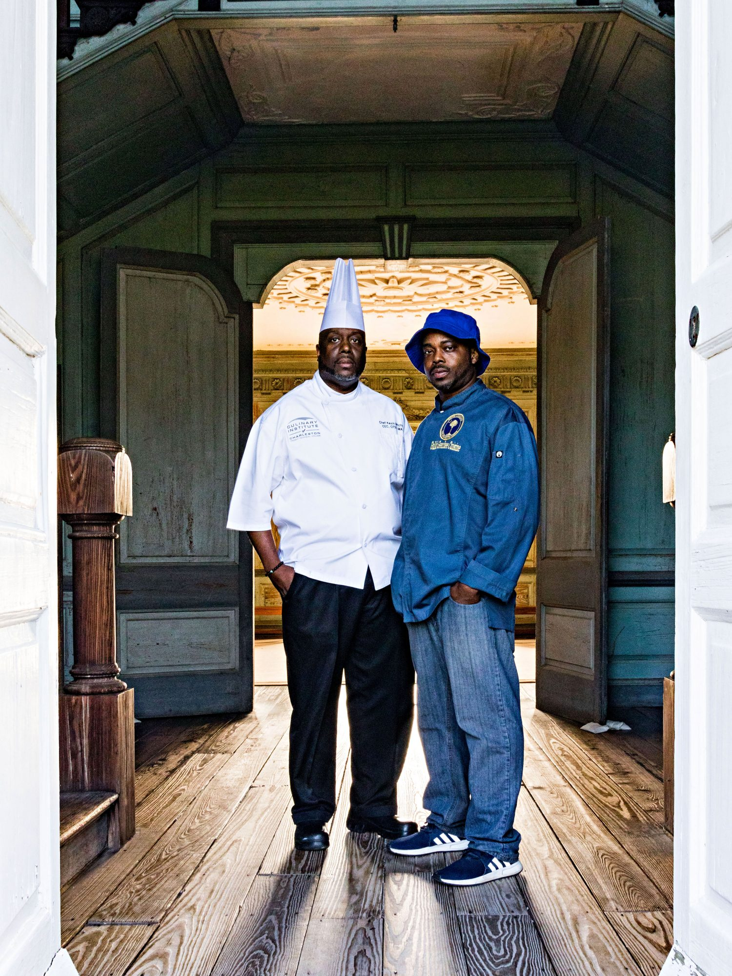 Chef Kevin Mitchell and BJ Dennis of Charleston