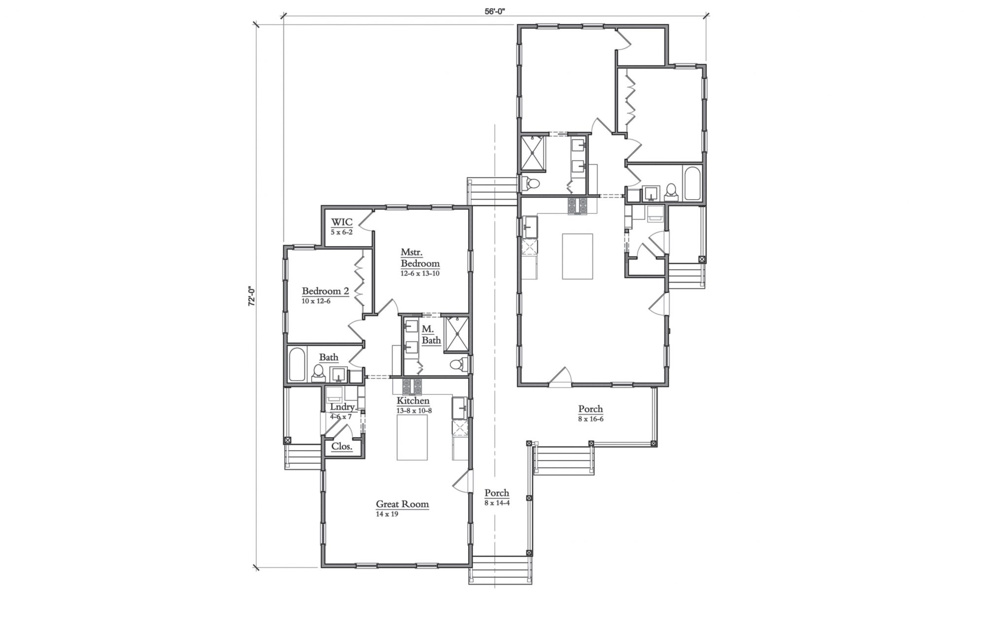 Moser Design Group Duplex Floor Plan SL-2014