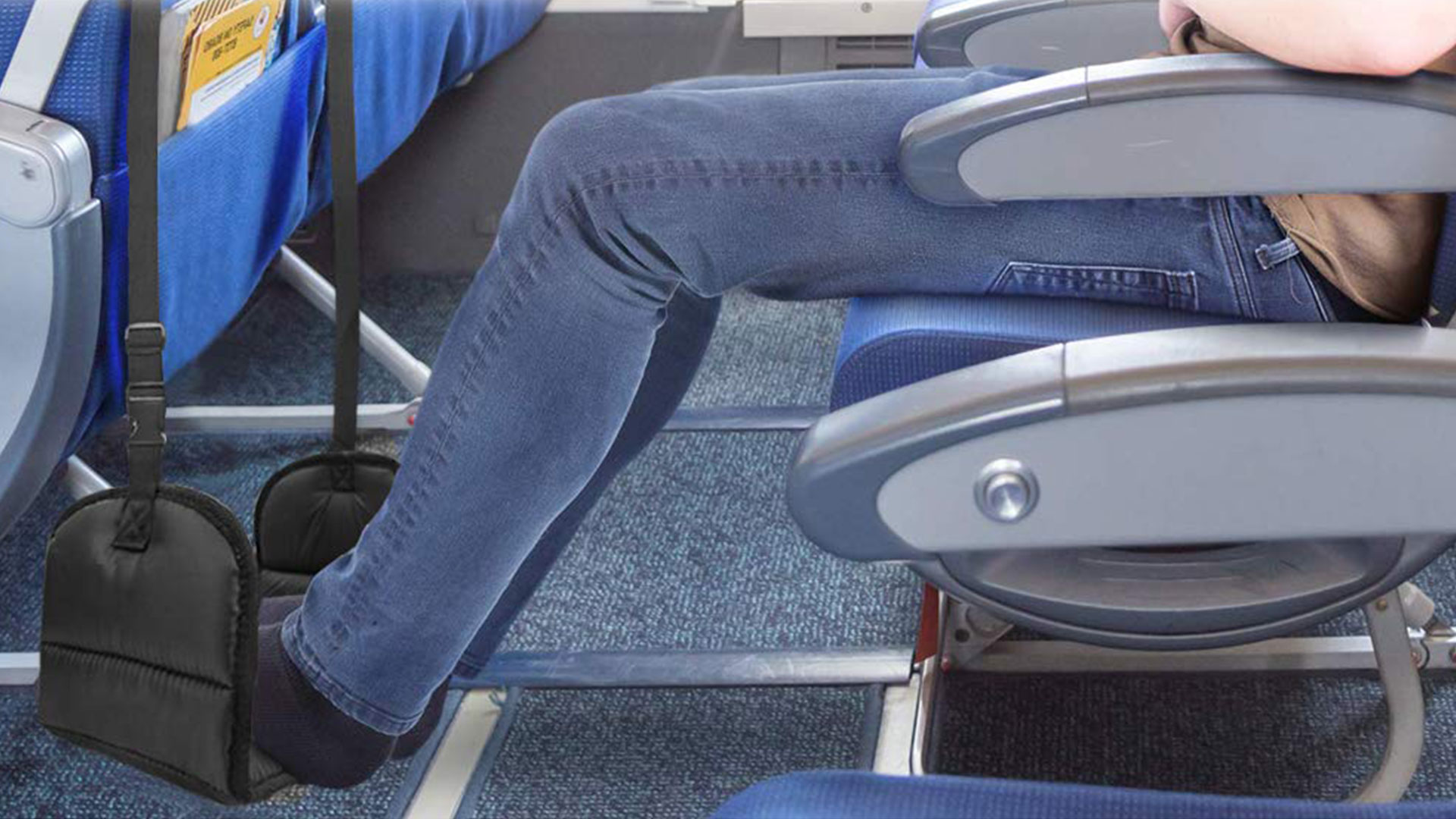 """The Airplane """"Foot Hammock"""" Is Here to Change the Way You Fly"""