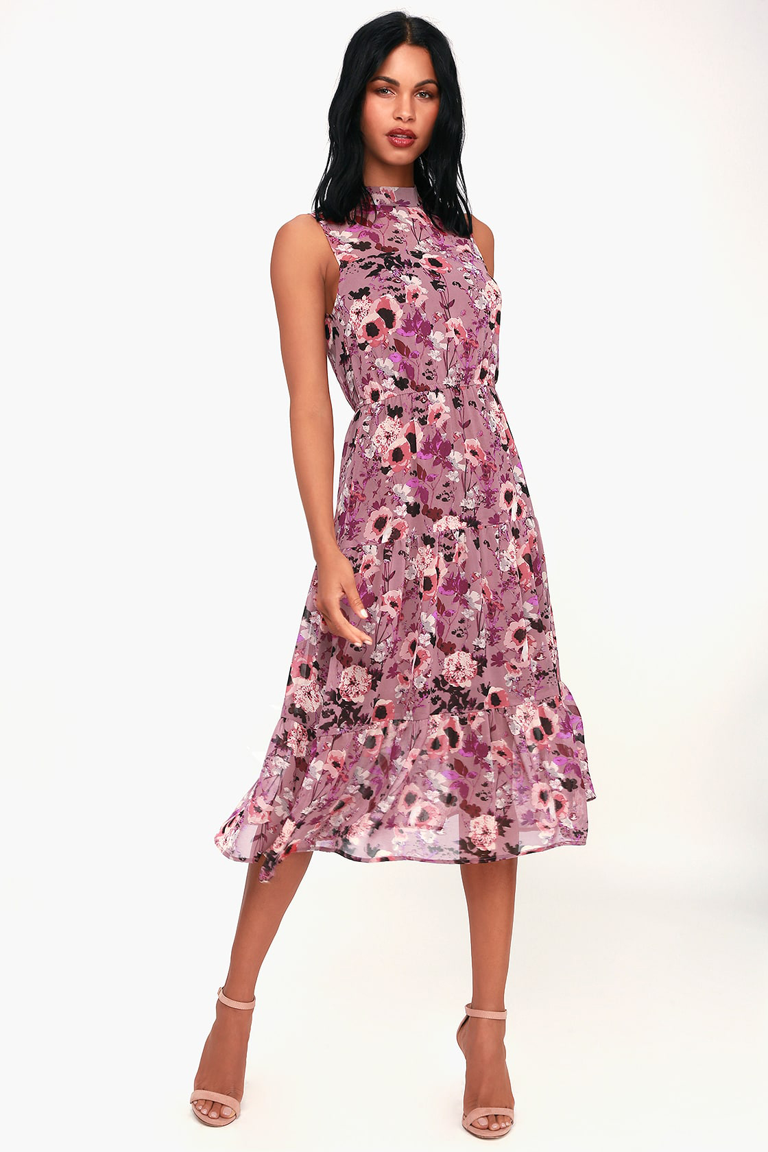 In My Dreams Floral Midi Dress