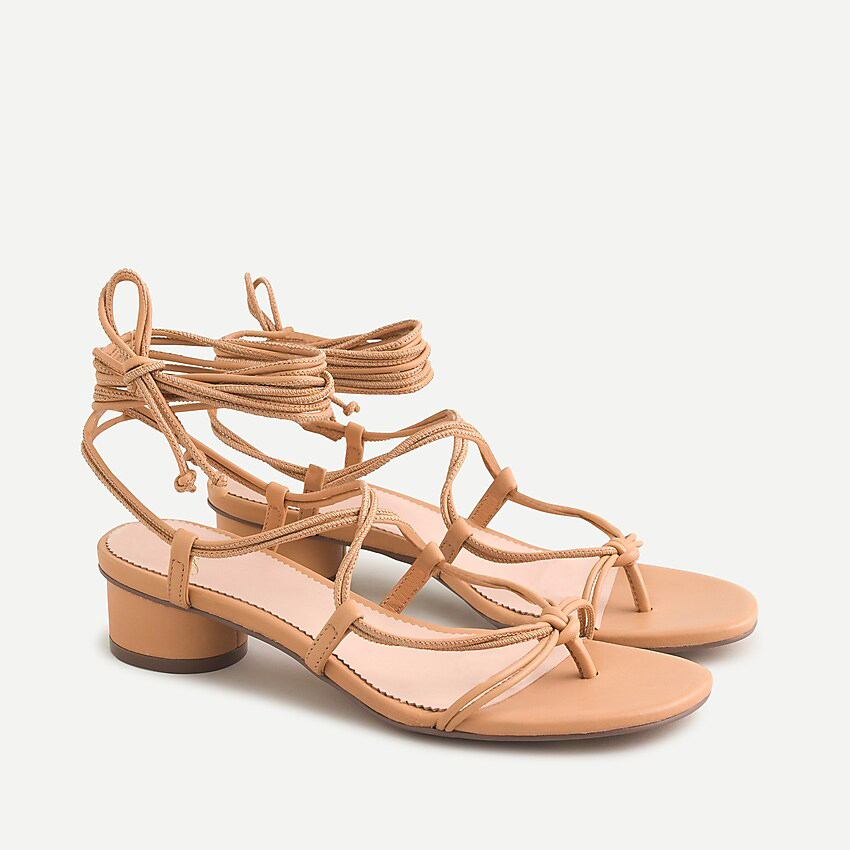 J. Crew Lace-Up Strappy Sandals