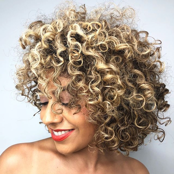 Layered Curly Lob