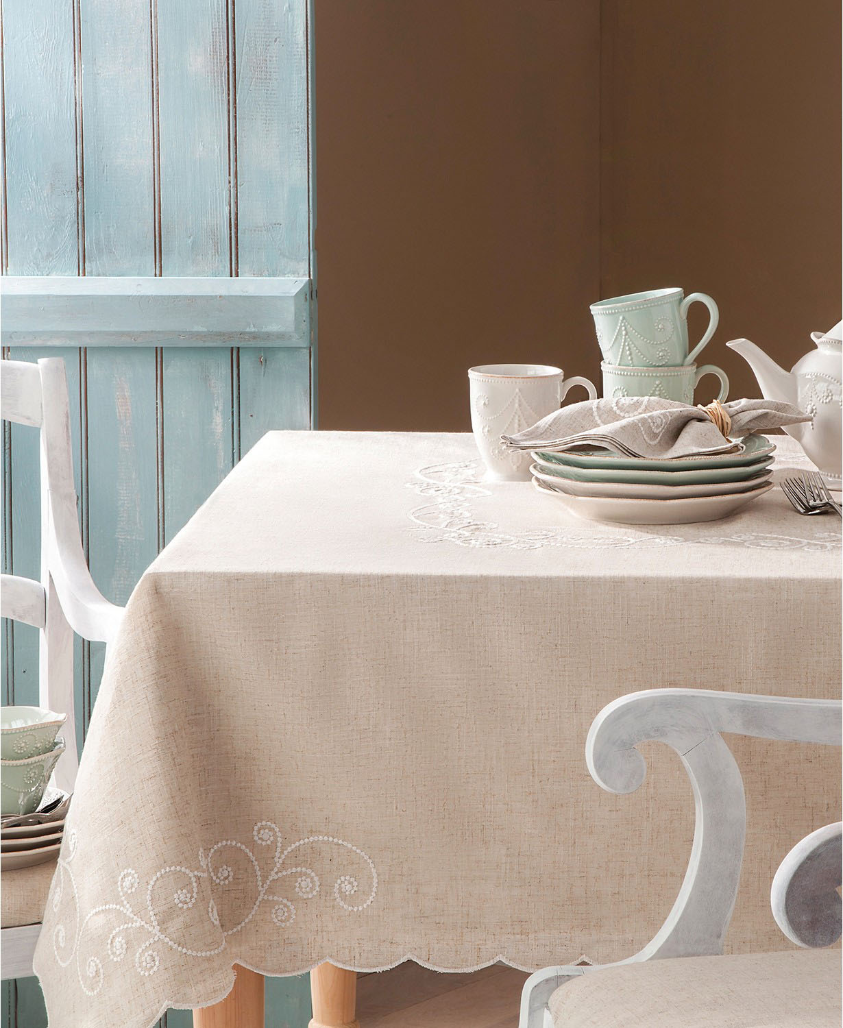 Lenox Embroidered Tablecloth