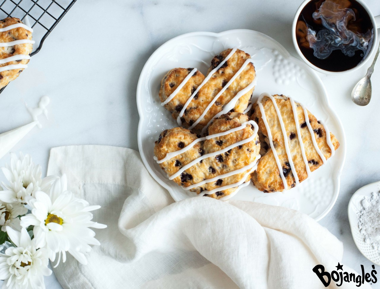 Bojangles' Heart-Shaped Biscuits