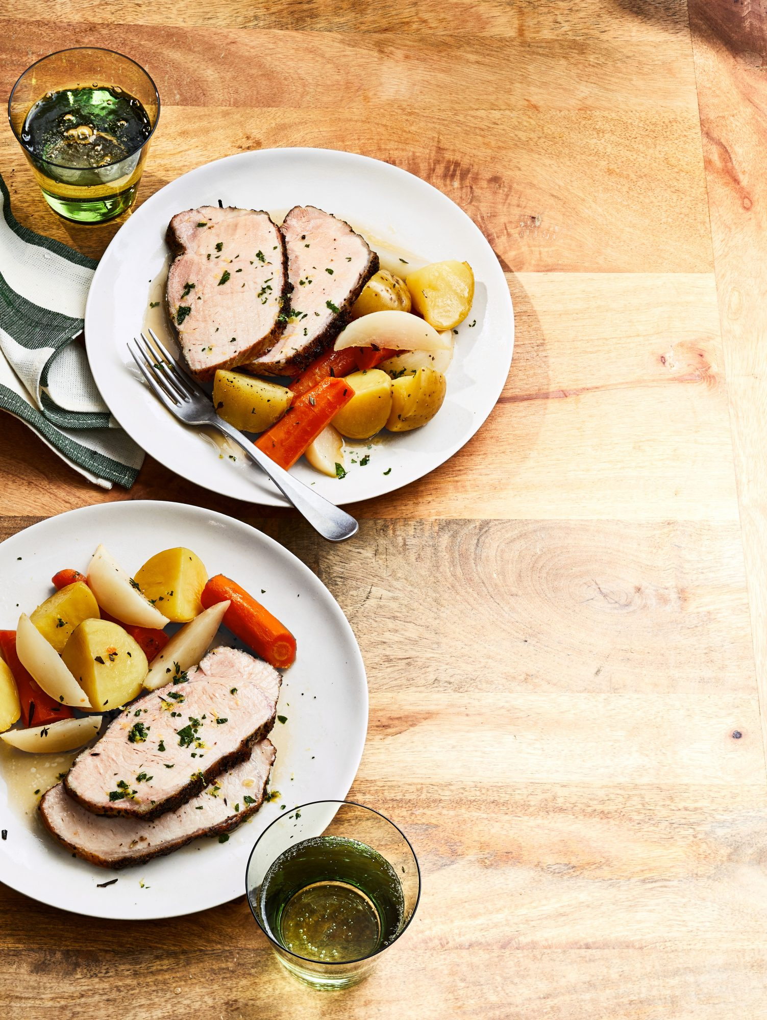 Slow-Cooker Pork Roast with Carrots, Turnips, and Potatoes