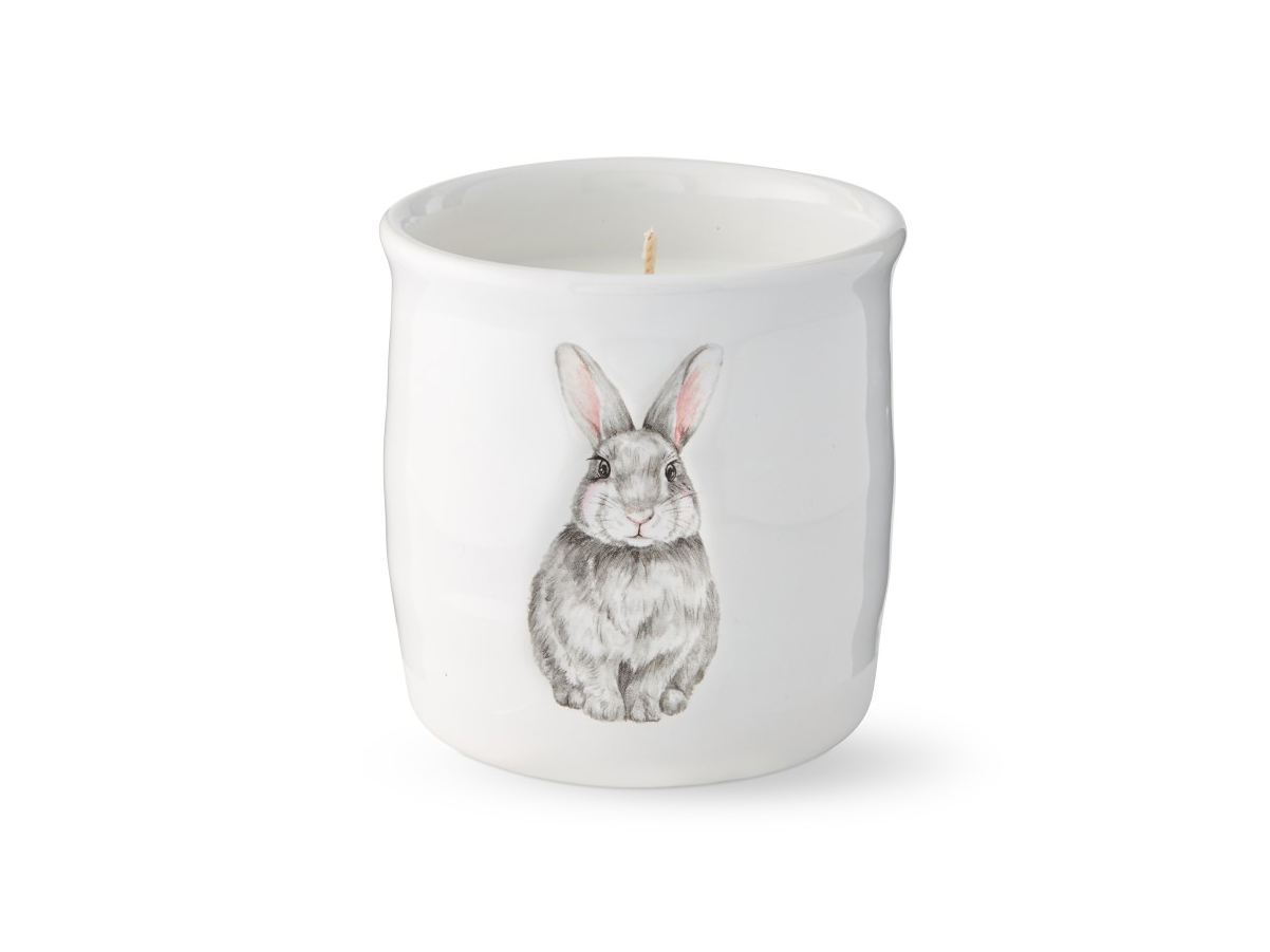 Embossed Bunny Candle