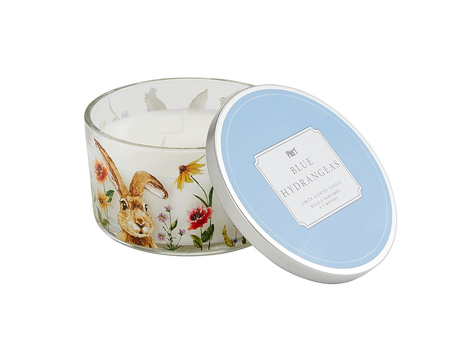 Blue Hydrangeas Collection Easter Filled 3-Wick Candle