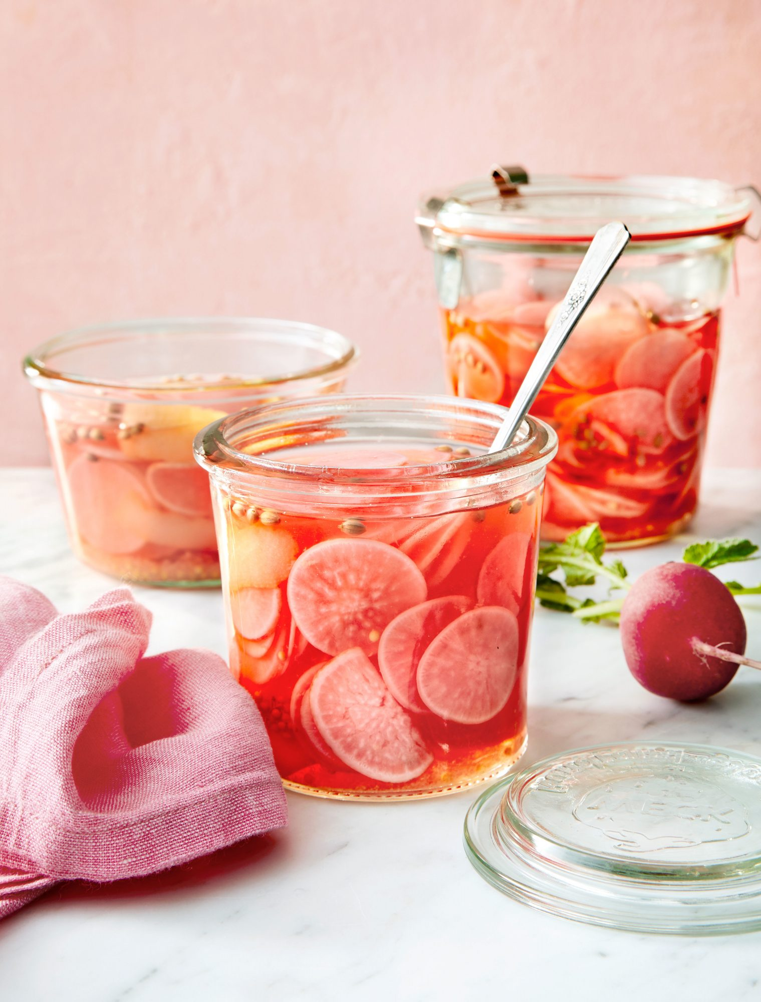 Quick Pickled Radishes with Lemon, Ginger, and Maple