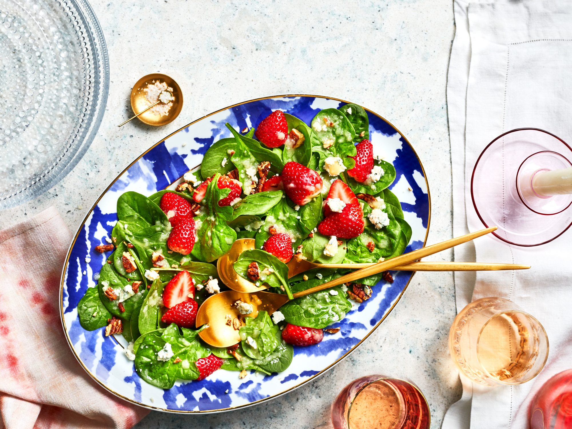 Strawberry-Spinach Salad with Sweet Vidalia Onion Dressing