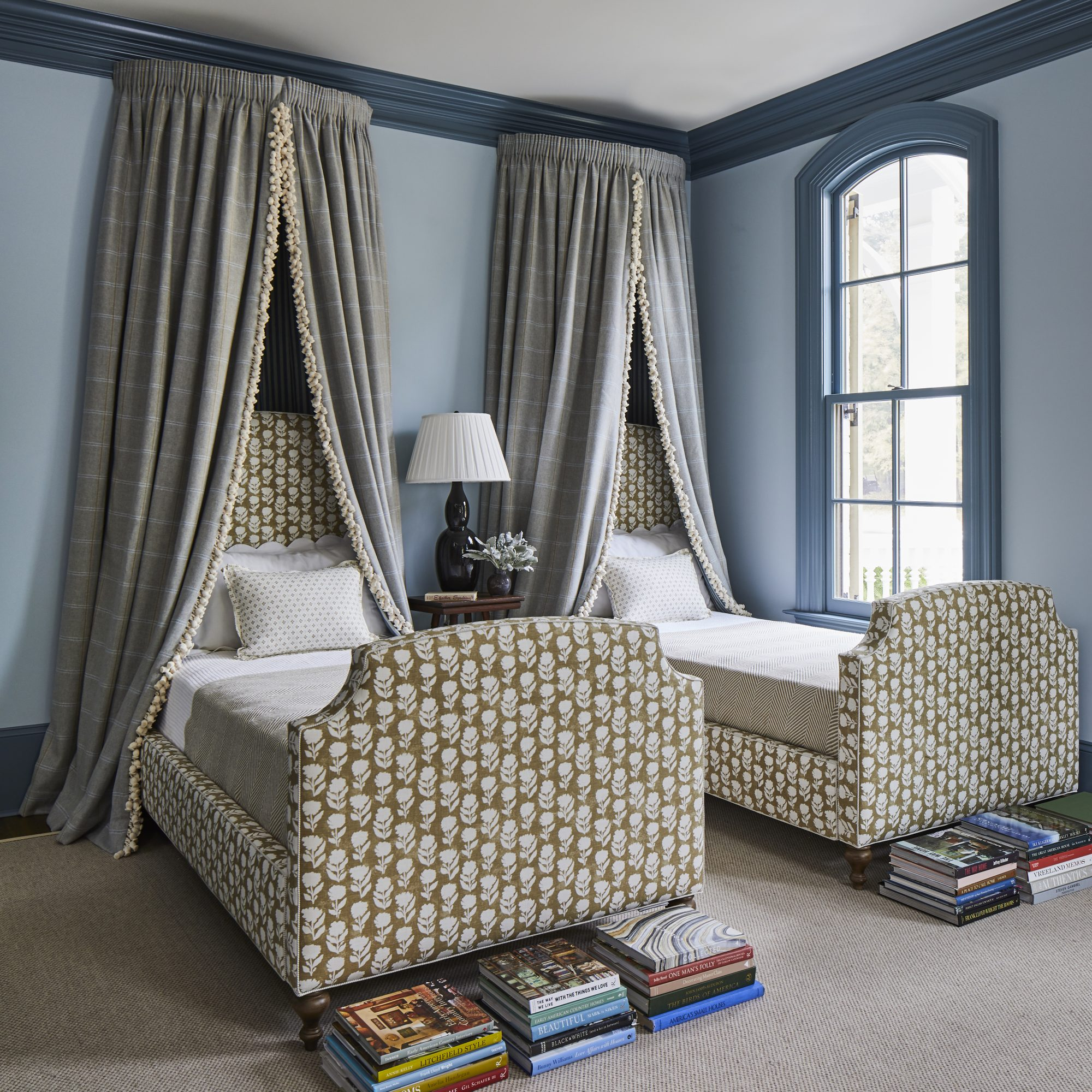 Blue Bedroom with Twin Beds