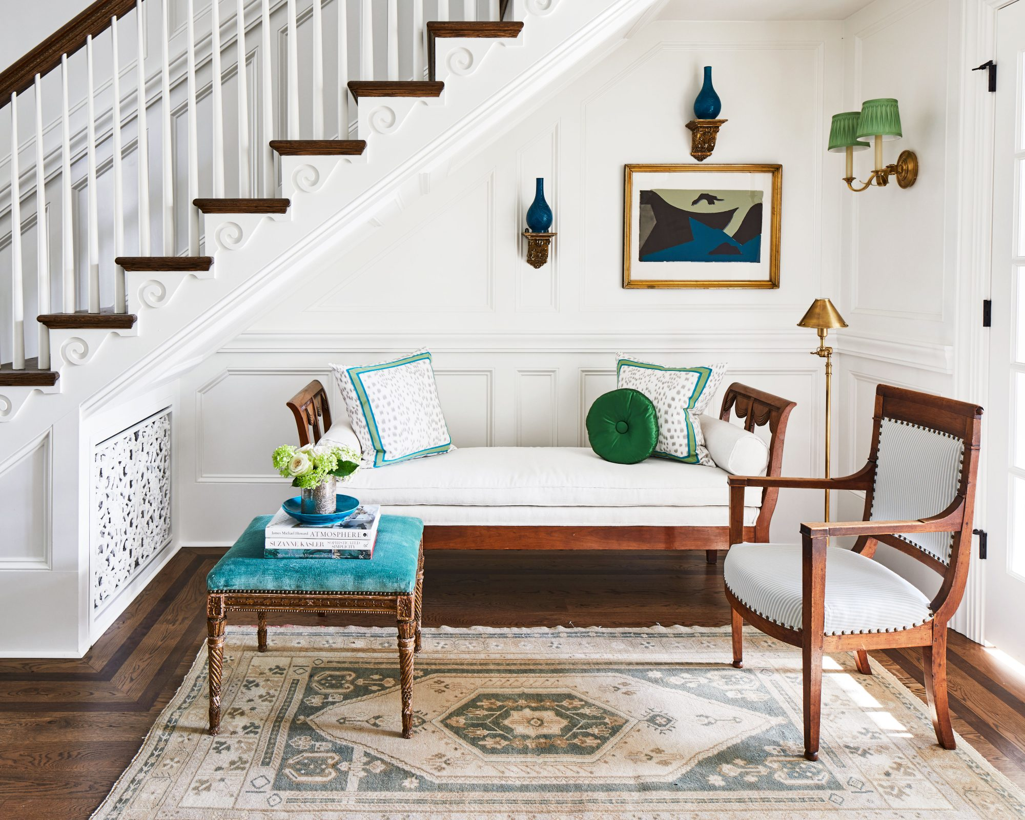 Seating Nook Under the Stairs