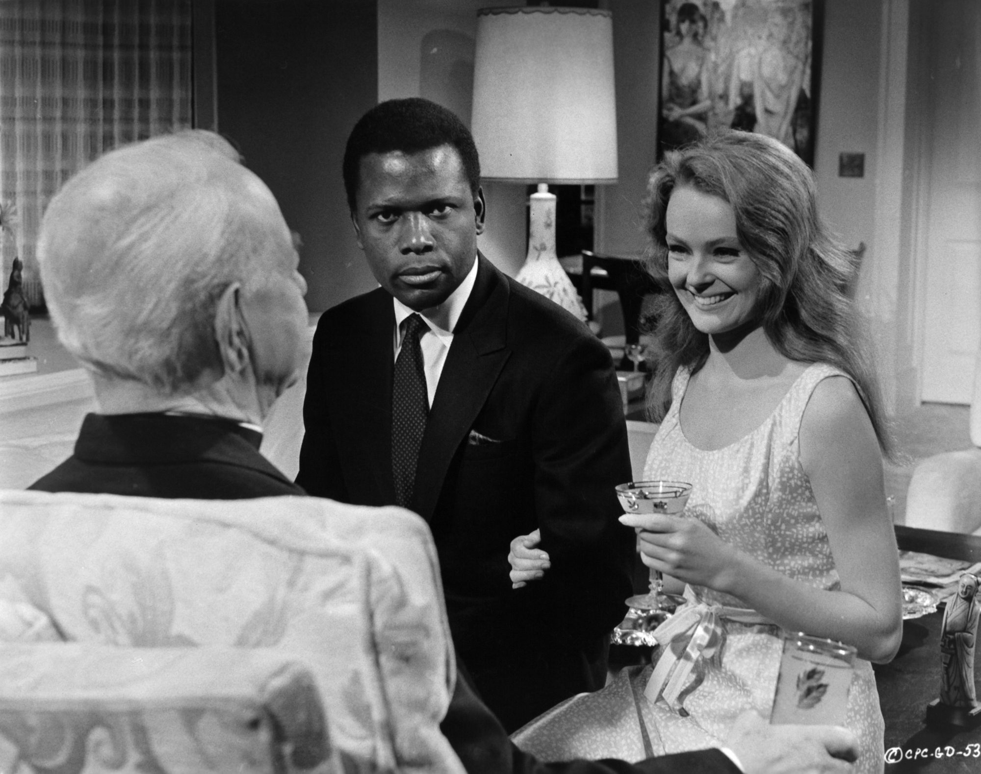 Sidney Poitier And Katharine Houghton In 'Guess Who's Coming to Dinner'
